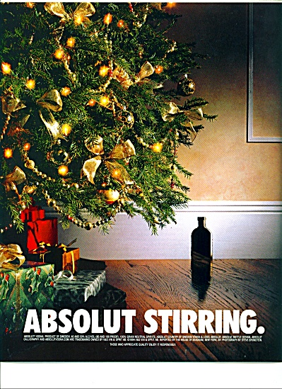 Absolut Stirring Ad Christmas Bronstein