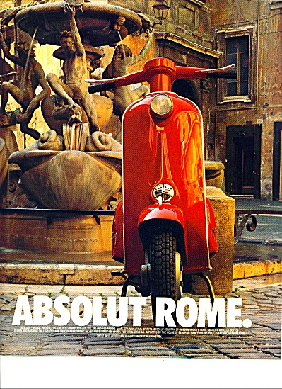 Absolut Rome Ad - Graham Ford Photo