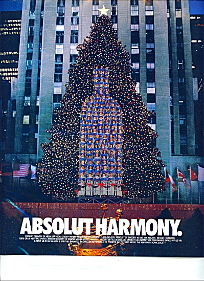Absolut Harmony Ad New York CHORAL Society (Image1)