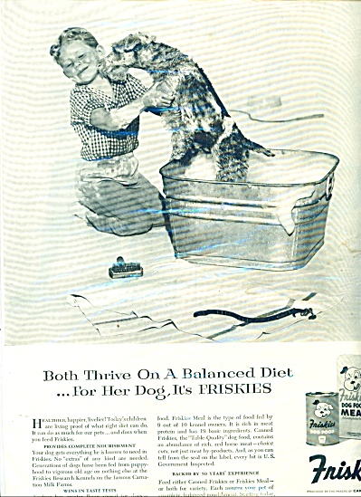 Friskies dog food AD BOY Bathing DOG (Image1)
