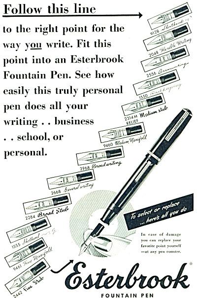 Esterbrook fountain pen ad -1948 (Image1)