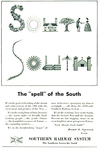 1948 SOUTHERN RAILWAY SYSTEM AD Trains Railro (Image1)
