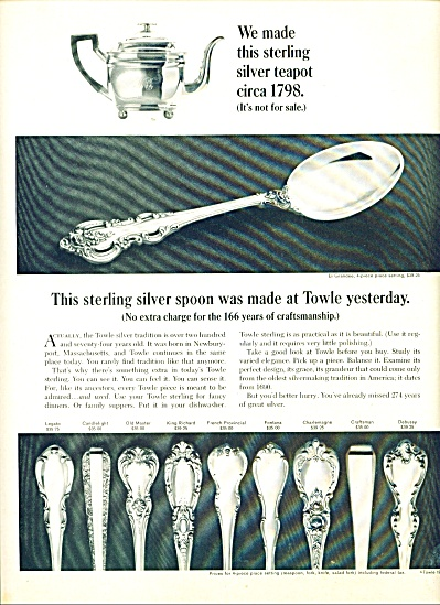 Towle Silver ElGrandee TEN PATTERNS AD Sterli (Image1)