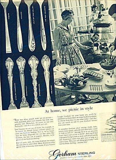 Gorham Sterling Ad - 1956 (Image1)