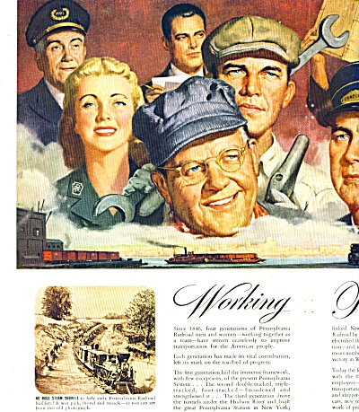 1946 Pennsylvania Railroad AD Train Workers (Image1)