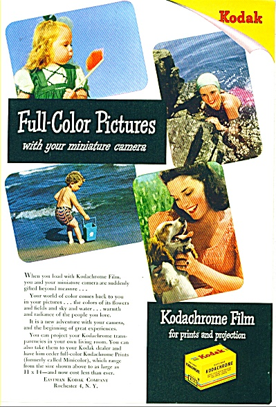 1946 Kodachrome film ad People at Beach (Image1)