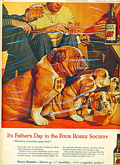 Four Roses Whiskey Ad - 1959