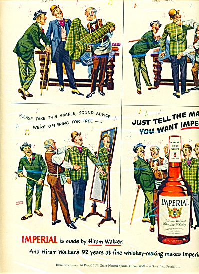 1950 IMPERIAL WHISKEY Albert Dorne AD Barber (Image1)
