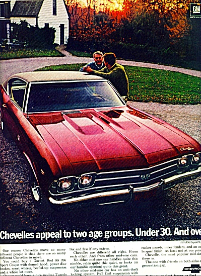 1969 Chevrolet Chevelle SS Car PROMO  AD (Image1)