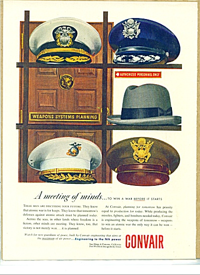 1953 CONVAIR AD MILITARY HATS CRUSHER (Image1)