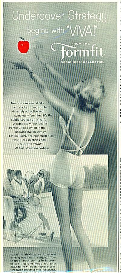 1958 Sexy Lady Formfit Bra Ad Red Apple Viva