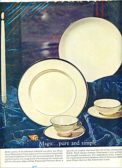 1950's Franciscan Masterpiece China AD (Image1)