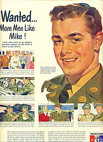 1950 US Army Recruiting AD MORE MEN LIKE MIKE (Image1)