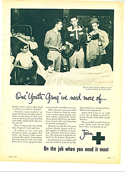 1959 JOIN THE RED CROSS Ad Youth GANG (Image1)