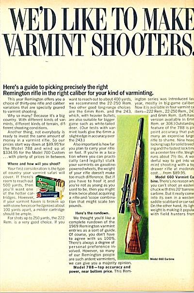 1969 REMINGTON DUPON PETERS AD Gun VARMINT SH (Image1)