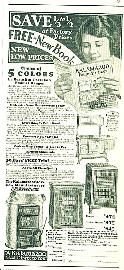 1928 Kalamazoo Catalog AD Porcelain Enamel Ra (Image1)