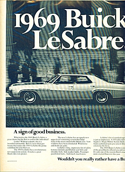 1969 Buick LeSabre AD WOULDNT YOU RATHER HAVE (Image1)