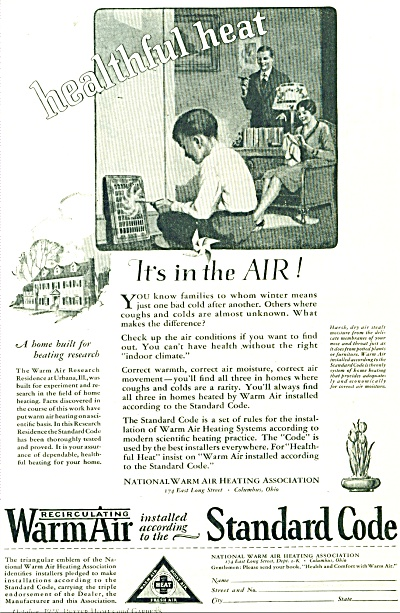 1928National Warm Air Heating Assn AD VTG ART (Image1)
