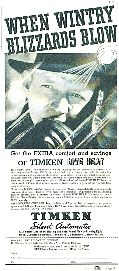 Timken Silent Automatic heating ad - 1928 (Image1)