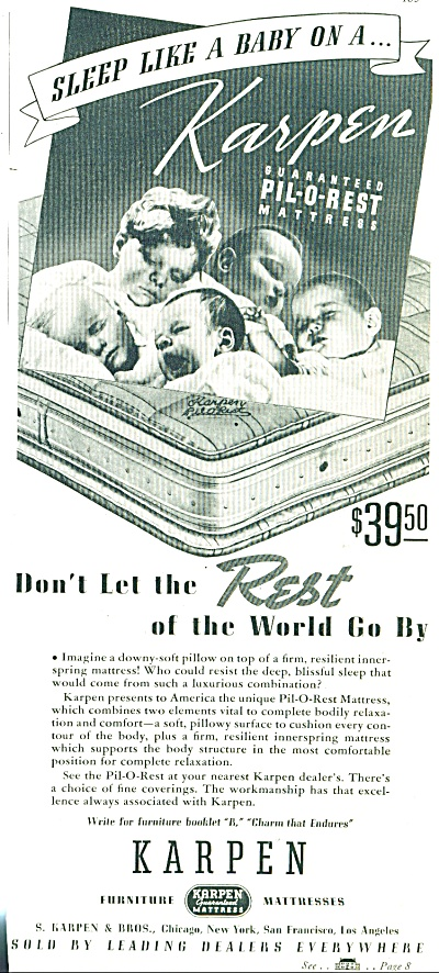 1937 KARPEN Mattress AD 5 Children SLEEPING P (Image1)