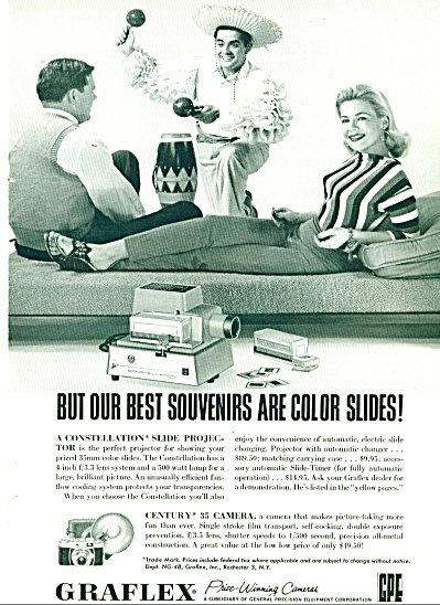 1958 Graflex Cameras AD COUPLE with Canasta (Image1)