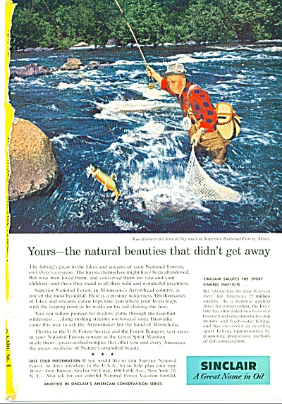1958 Sinclair - a great name in oil ad -  1958 (Image1)