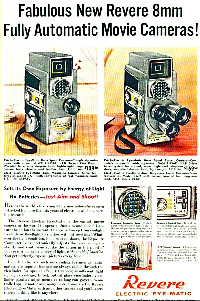 1958 Revere electric eye matic cameras ad (Image1)