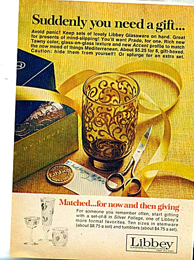 Libbey Co. Ad - 1969