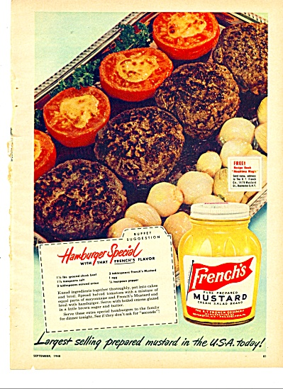 French's Mustard ad -  1948 (Image1)