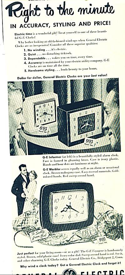 General Electric clocks ad (Image1)