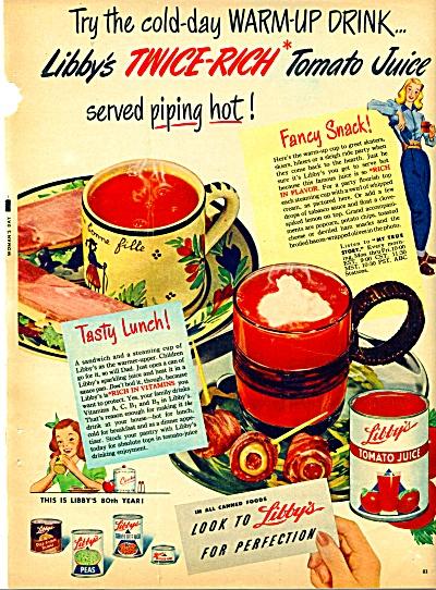 Libby's Tomato Juice ad (Image1)