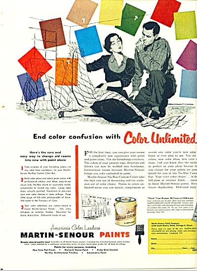 1952 Martin SENOUR PAINT PAINTS AD Lucia ARTW (Image1)