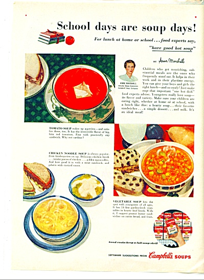 Campbell's soups ad -  1953 (Image1)