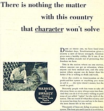 Warner & Swasey  machine tools ad- 1951 (Image1)