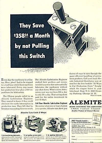Alemite Co. ad  - 1951 (Image1)