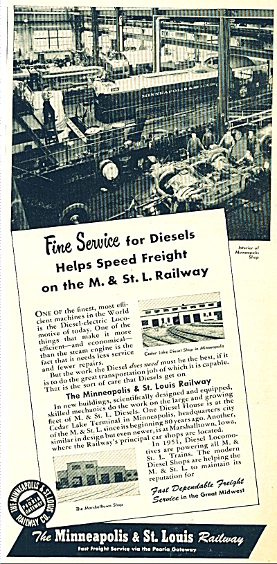 Minneapolis & St. Louis Railway ad - 1951 (Image1)