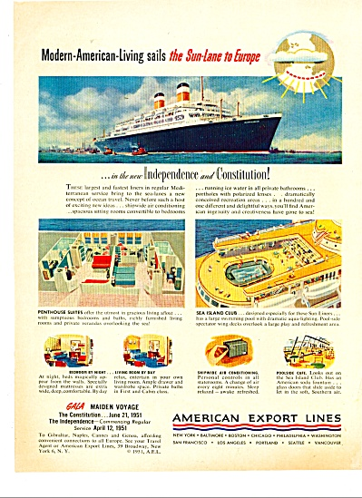 American Export Lines ad -  1951 (Image1)