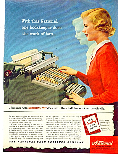 National Cash Register Company ad - 1951 (Image1)
