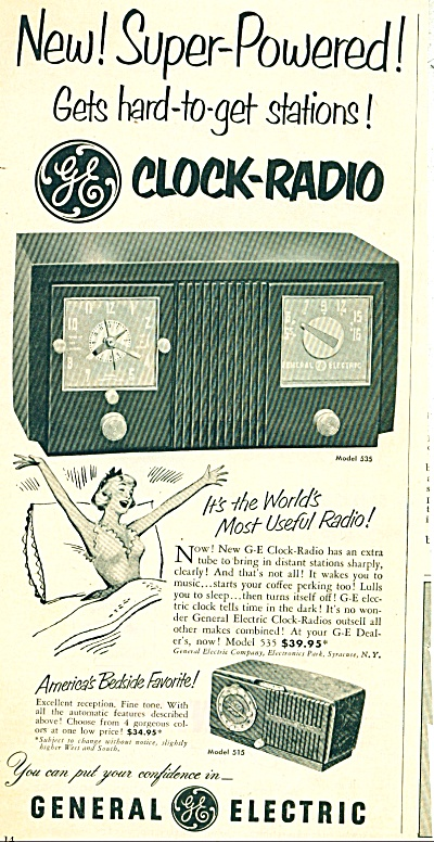 General Electric Clock-radio - 1951