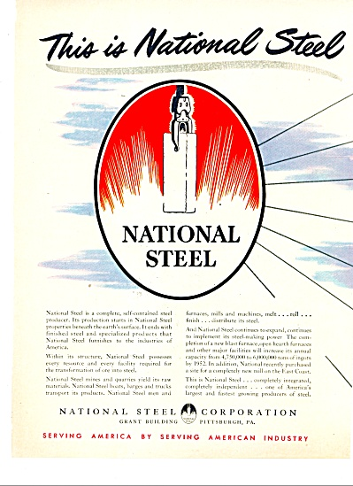 1951 National Steel Coporation Producer AD (Image1)