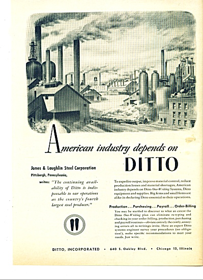 1951 Ditto AD Jones Laughlin Steel Plant PA A (Image1)