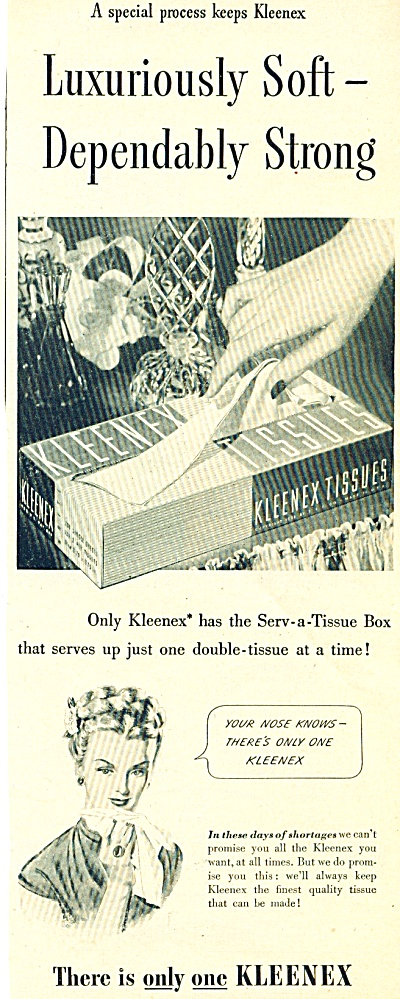 Kleenex tissues ad  -  1946 (Image1)