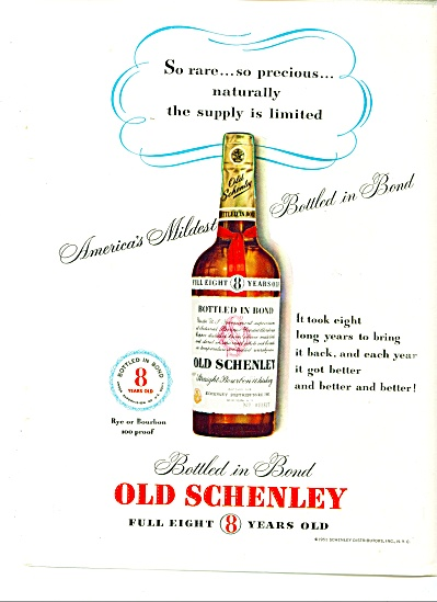 1951 Old Schenley Whiskey AD (Image1)