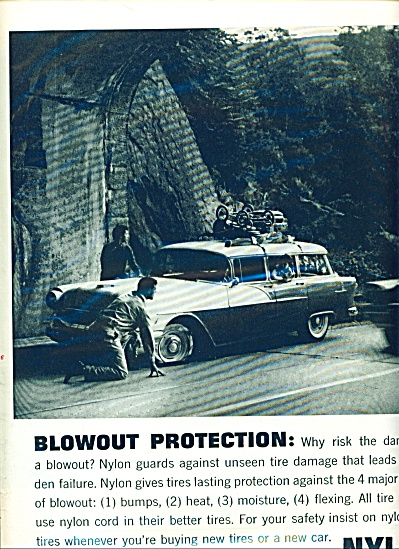 Tires with Nylon(Dupont) ad - 1958 (Image1)