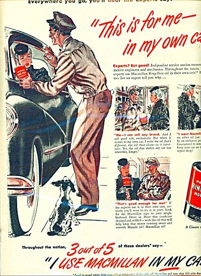 1946 Macmillan ring free motor oil AD SIP (Image1)