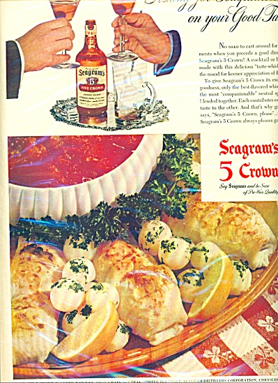 1946 Seagrams 5 crown whiskey AD (Image1)