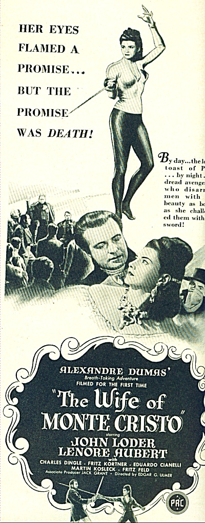 The Wife of Monte Cristo Movie ad - 1946 (Image1)