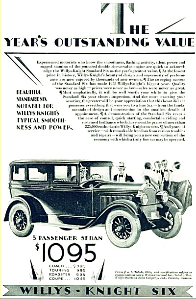 1928 WILLYS OVERLAND 6 AD Walter Seaton ART (Image1)