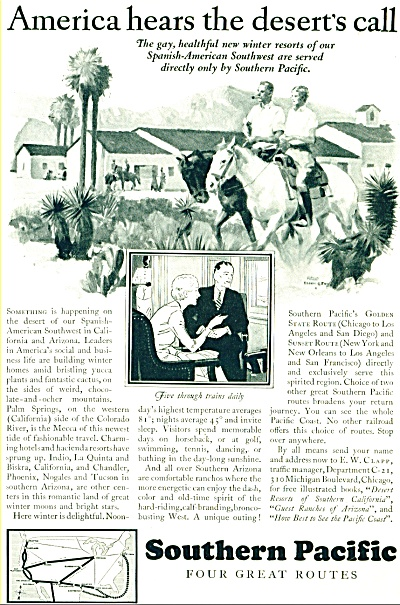 1928 Southern Pacific Railroad AD ARTWORK SIP (Image1)