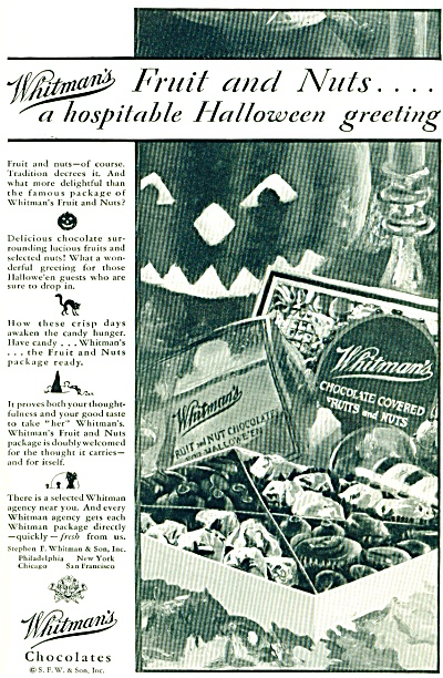 1928 Whitman's HALLOWEEN chocolates ad - 1928 (Image1)